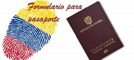 Formulario para pasaporte