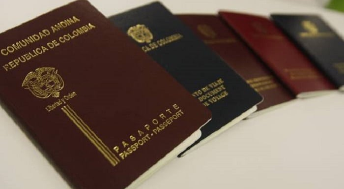 Pasaportes colombianos