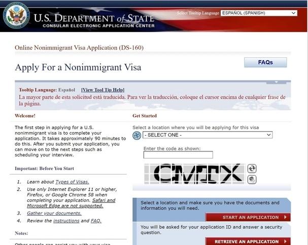Requisitos para Tramitar la visa de usa