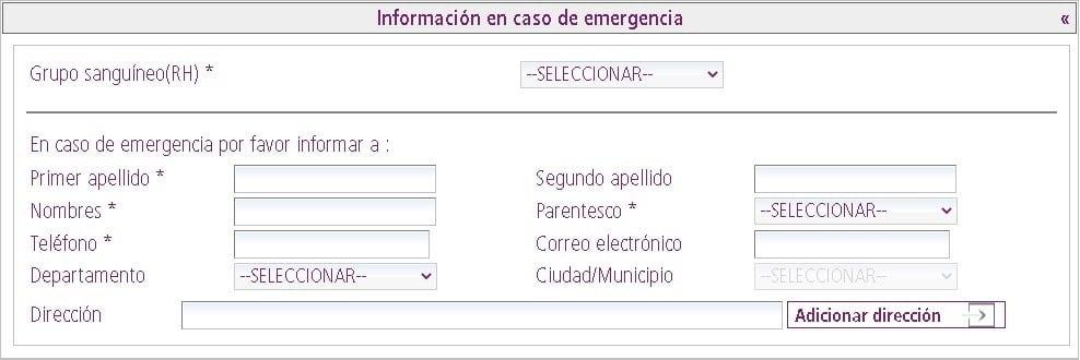 Información en caso de emergencia en formulario único de trámites para CE